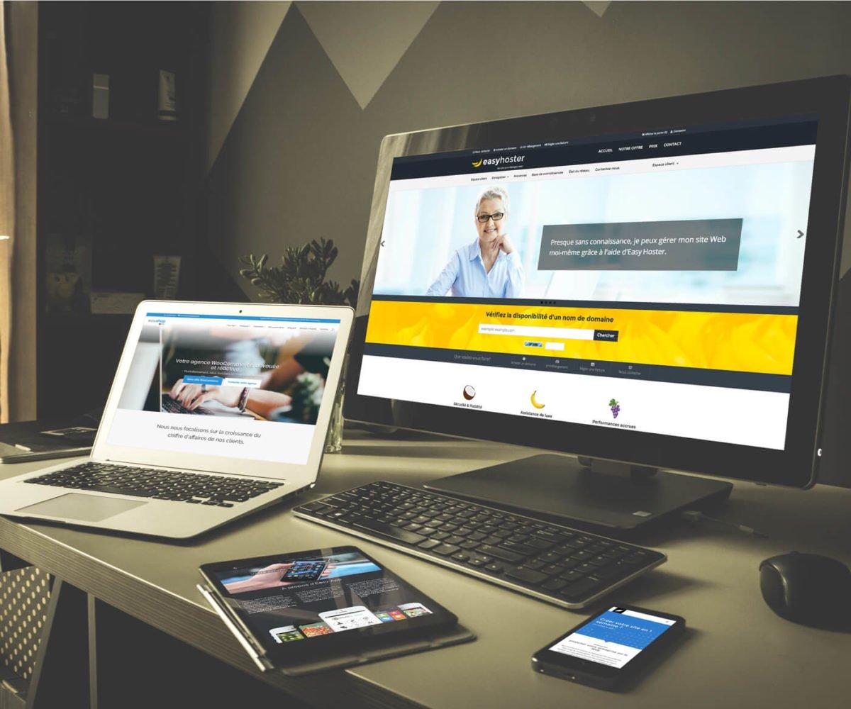 La galaxie web EASY : création de site, eCommerce, hébergement pro...